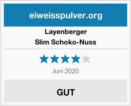 Layenberger Slim Schoko-Nuss Test