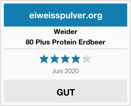 Weider 80 Plus Protein Erdbeer Test