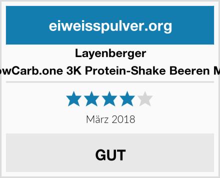Layenberger LowCarb.one 3K Protein-Shake Beeren Mix Test