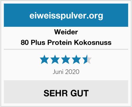 Weider 80 Plus Protein Kokosnuss Test