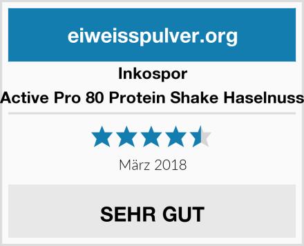 Inkospor Active Pro 80 Protein Shake Haselnuss Test