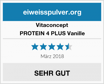 Vitaconcept PROTEIN 4 PLUS Vanille Test