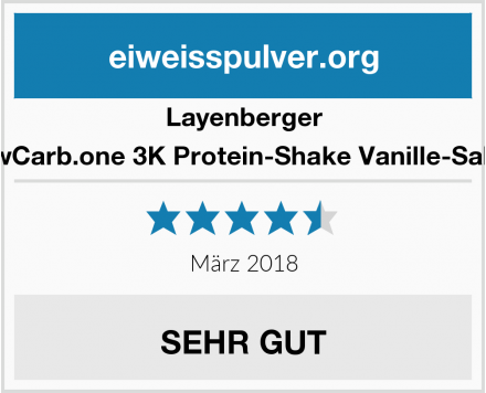 Layenberger LowCarb.one 3K Protein-Shake Vanille-Sahne Test