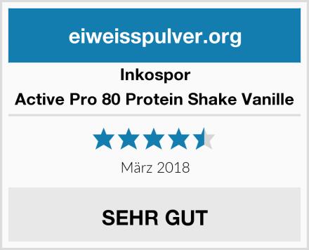 Inkospor Active Pro 80 Protein Shake Vanille Test