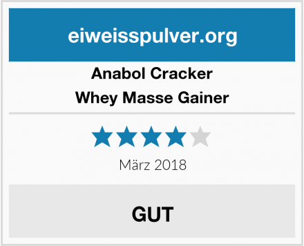 Anabol Cracker  Whey Masse Gainer Test