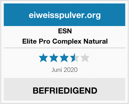 ESN Elite Pro Complex Natural Test
