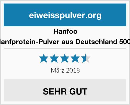 Hanfoo Hanfprotein-Pulver aus Deutschland 500g Test