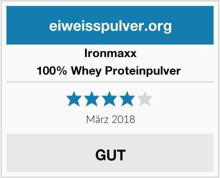 IronMaxx 100% Whey Proteinpulver  Test