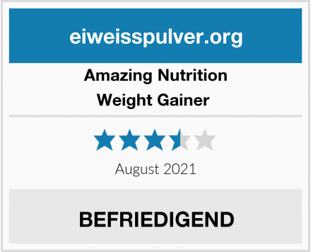 Amazing Nutrition Weight Gainer  Test