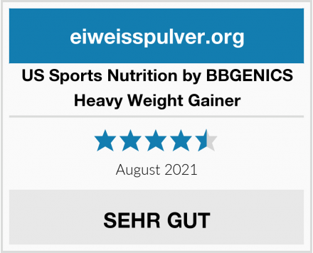 US Sports Nutrition by BBGENICS Heavy Weight Gainer Test