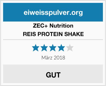 ZEC+ Nutrition REIS PROTEIN SHAKE Test