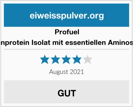 ProFuel Erbsenprotein Isolat mit essentiellen Aminosäuren Test