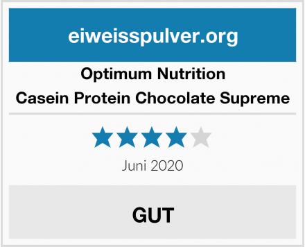Optimum Nutrition Casein Protein Chocolate Supreme Test