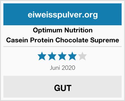 Optimum Nutrition Casein Protein Chocolate Supreme Test