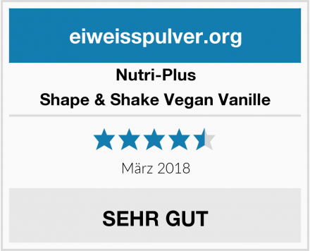 Nutri-Plus Shape & Shake Vegan Vanille Test