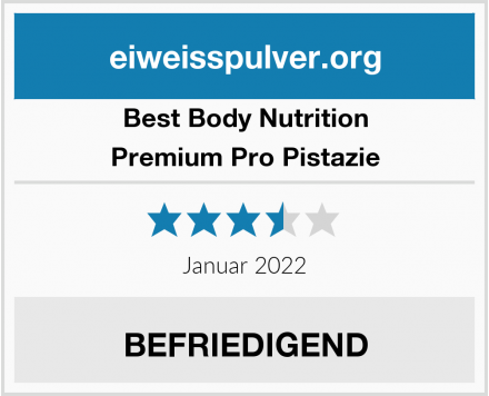 Best Body Nutrition Premium Pro Pistazie Test