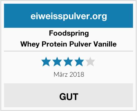 Foodspring Whey Protein Pulver Vanille Test