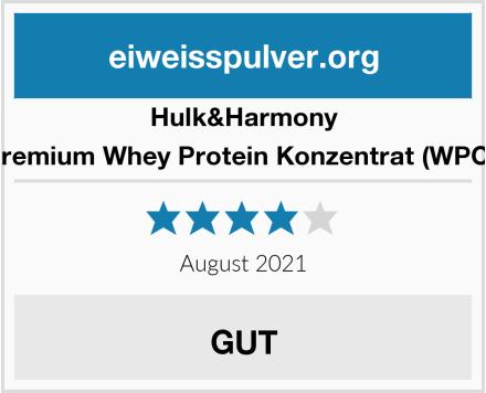 Hulk&Harmony Premium Whey Protein Konzentrat (WPC)  Test