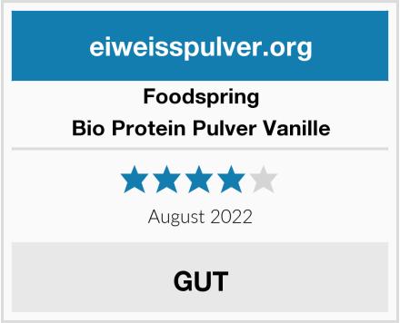Foodspring Bio Protein Pulver Vanille Test