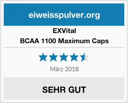 EXVital BCAA 1100 Maximum Caps Test