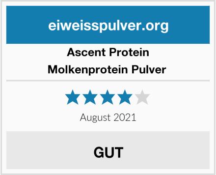 Ascent Protein Molkenprotein Pulver  Test