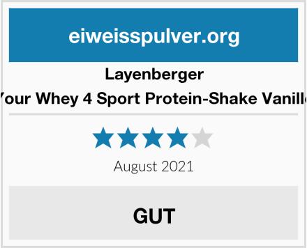 Layenberger Your Whey 4 Sport Protein-Shake Vanille Test
