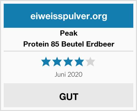 Peak Protein 85 Beutel Erdbeer Test