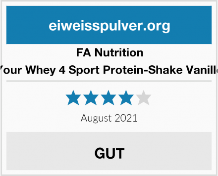FA Nutrition Your Whey 4 Sport Protein-Shake Vanille Test