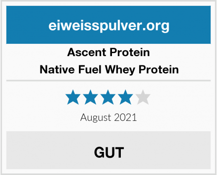 Ascent Protein Native Fuel Whey Protein Test