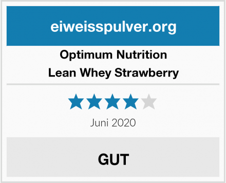 Optimum Nutrition Lean Whey Strawberry Test
