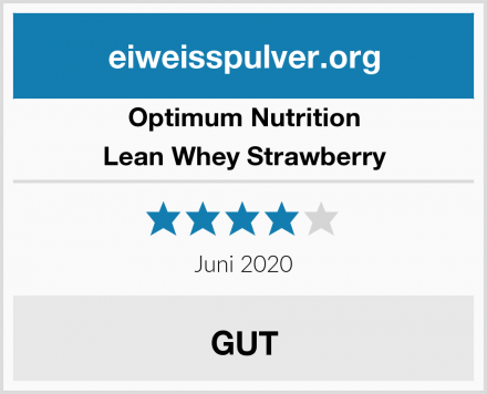 Optimum Nutrition Lean Whey Strawberry Test