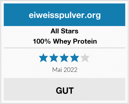 All Stars 100% Whey Protein Test