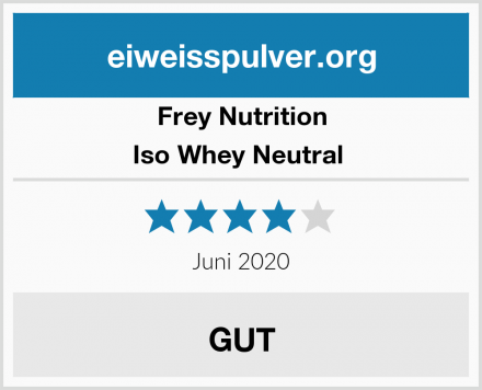 Frey Nutrition Iso Whey Neutral  Test