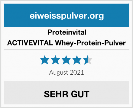 Proteinvital ACTIVEVITAL Whey-Protein-Pulver Test