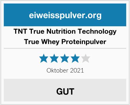 TNT True Nutrition Technology True Whey Proteinpulver Test