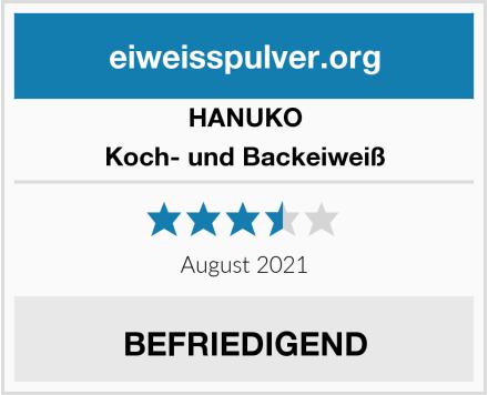 HANUKO Koch- und Backeiweiß Test