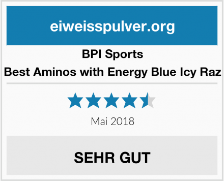 BPI Sports Best Aminos with Energy Blue Icy Raz Test