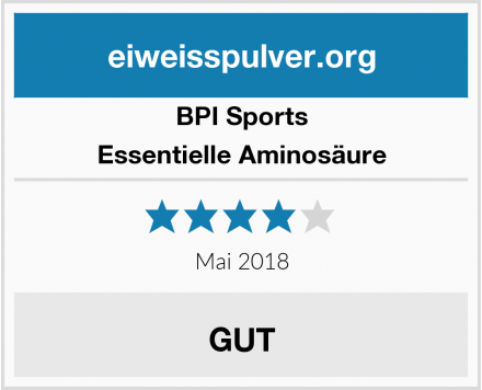 BPI Sports Essentielle Aminosäure Test