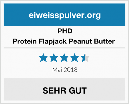 PHD Protein Flapjack Peanut Butter  Test