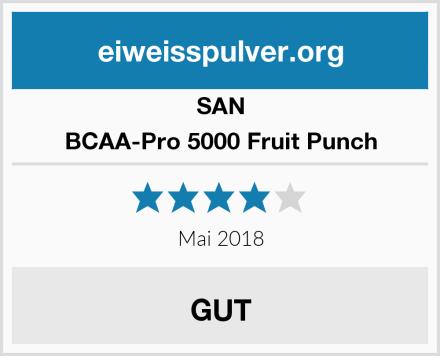 SAN BCAA-Pro 5000 Fruit Punch Test