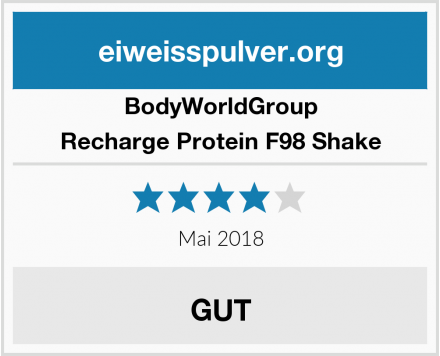 BodyWorldGroup Recharge Protein F98 Shake Test