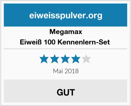 Megamax Eiweiß 100 Kennenlern-Set  Test