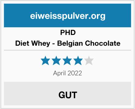 PHD Diet Whey - Belgian Chocolate Test