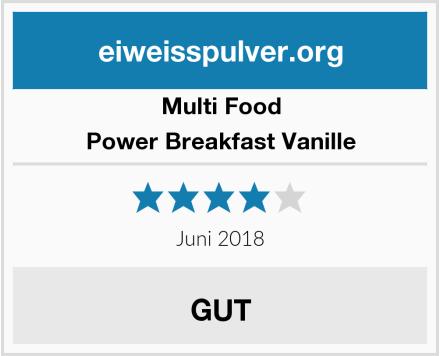 Multi Food Power Breakfast Vanille Test