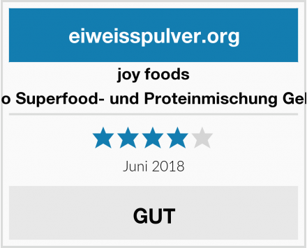 joy foods Bio Superfood- und Proteinmischung Gelb  Test