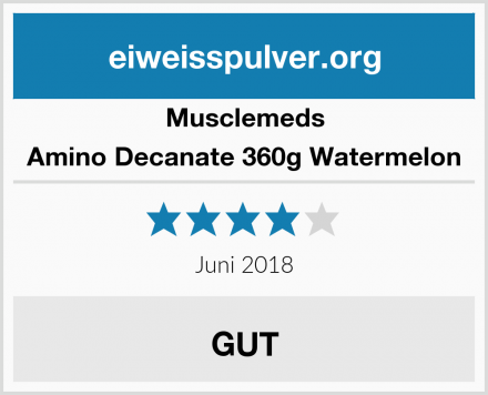 Musclemeds Amino Decanate 360g Watermelon Test