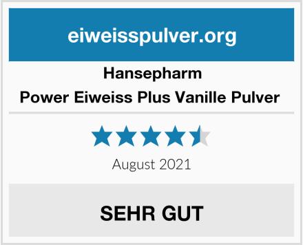Hansepharm Power Eiweiss Plus Vanille Pulver  Test