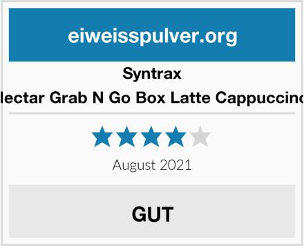 Syntrax Nectar Grab N Go Box Latte Cappuccino  Test
