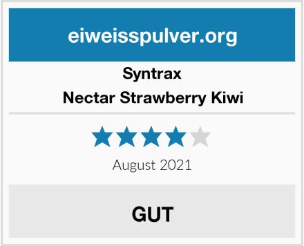 Syntrax Nectar Strawberry Kiwi Test
