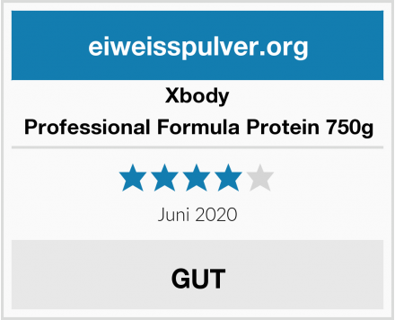 Xbody Professional Formula Protein 750g Test
